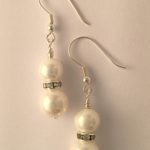 Rachel - Glass pearls with crystal rondelle 2