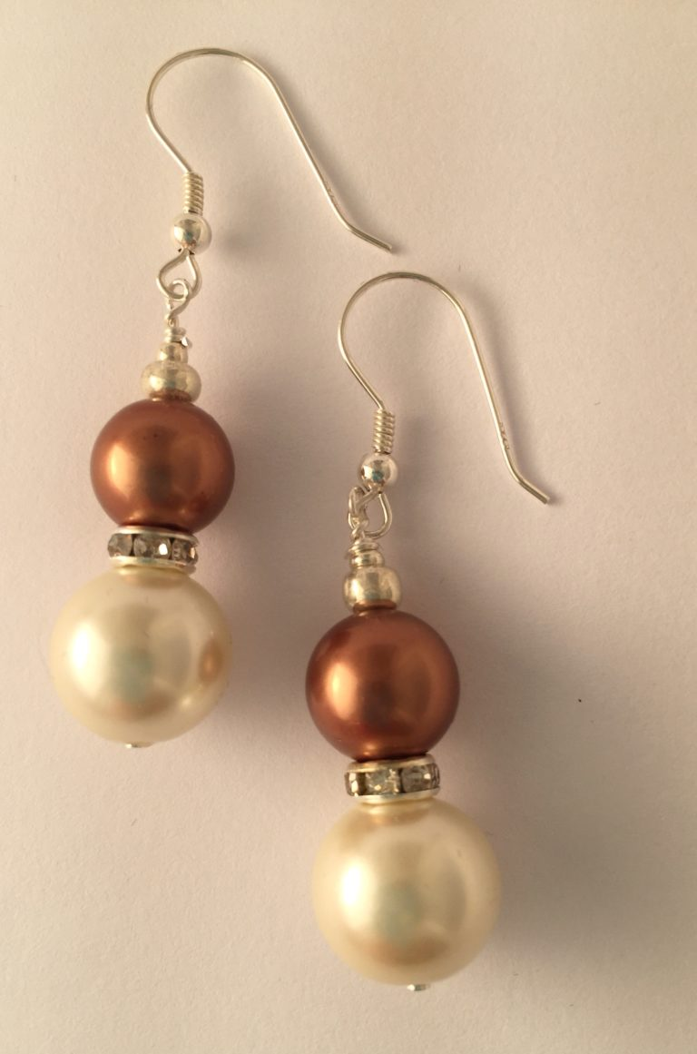 Rosemary- Glass Pearls and South Pacific Seashell 1