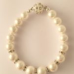 Rachel - Glass pearls with crystal rondelle 3