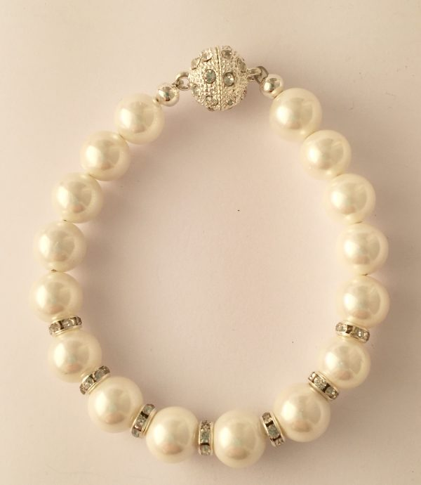 Rachel - Glass pearls with crystal rondelle 11