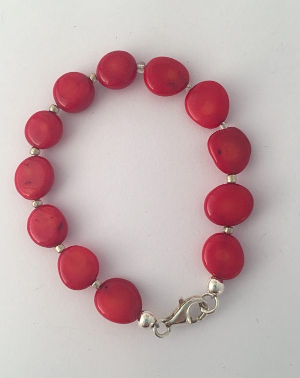 Lipstick - Coral and Henatite necklace 2
