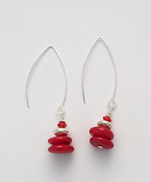 Red Coral Earrings 13
