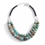 Amazonite and Black Onyx Necklace 2