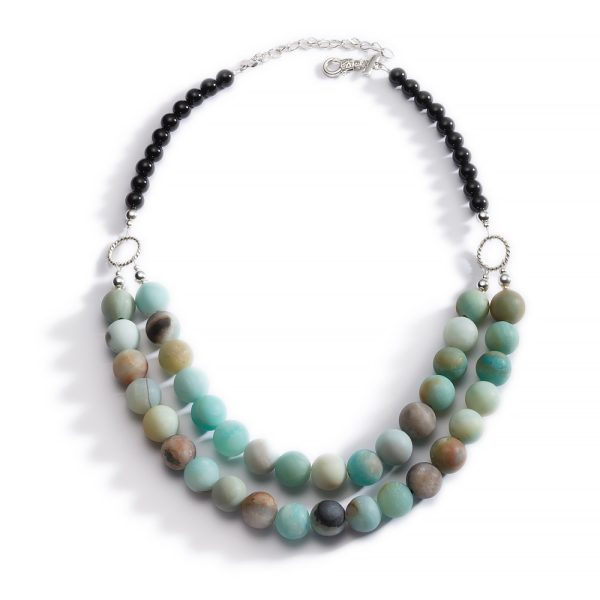 Amazonite and Black Onyx Necklace 2