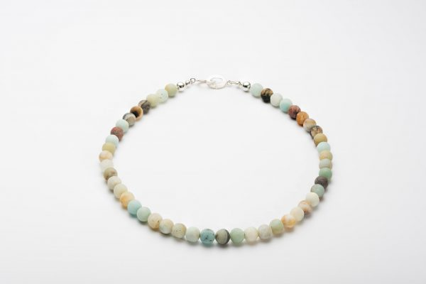 Amazonite Necklace with Sterling Silver Clasp (10mm Beads) 9
