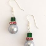 An Emerald Green Quartz Earring with Rolled gold on sterling silver earrings 1