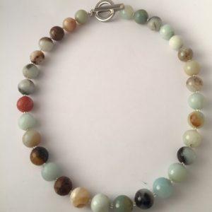 Natural Amazonite Irish Design Necklace