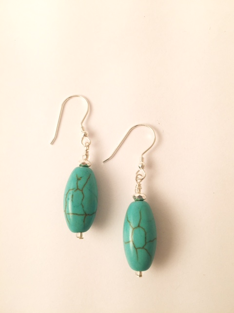 Turquoise Hematite Earrings 11