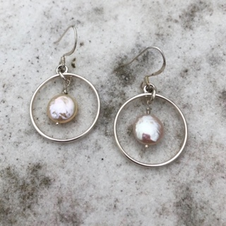 Hoop and Cultured pearls