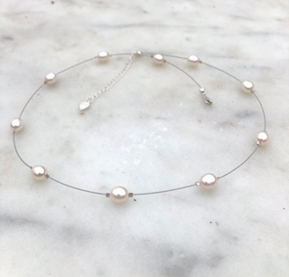 Floating Pearl Necklace