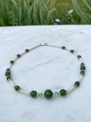 Freshwater Pearls,Jade and Sw