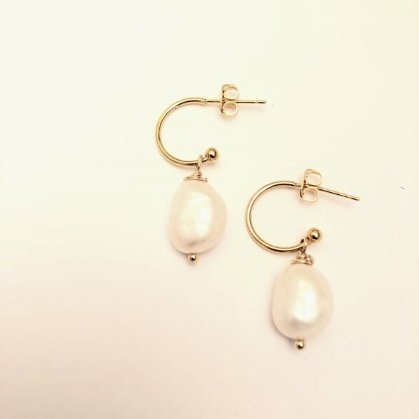 A Rolled Gold and Freshwater Pearl