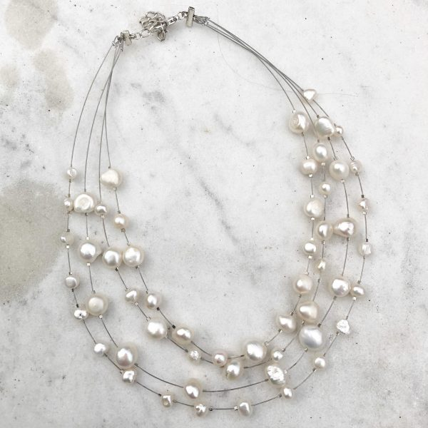 Free Floating Pearl Necklace